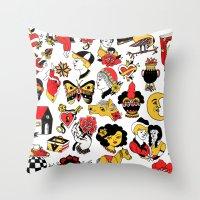 flash Throw Pillows featuring Flash by Aurora Moreno Pavón
