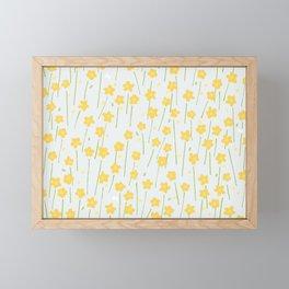 Buttercup Field M+M Evergreen by Friztin Framed Mini Art Print