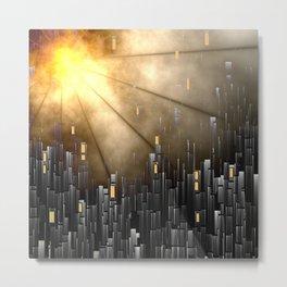 Hot shine over the city Metal Print