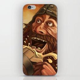 """Ha Ha!  Beer is good!!"" iPhone Skin"