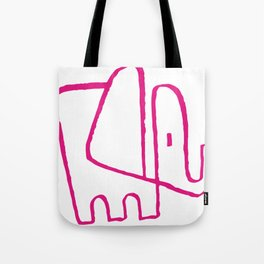 Pink Elephant One Line Tote Bag