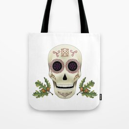 Knotwork Skull Tote Bag