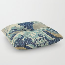 The Great Wave off Kanagawa Floor Pillow