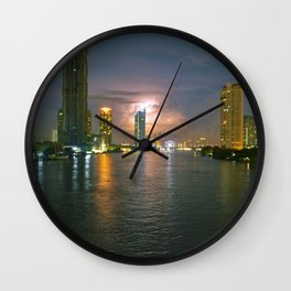 Thai sky by #Bizzartino Wall Clock