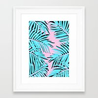 palm tree Framed Art Prints featuring Palm tree by Hanna Kastl-Lungberg