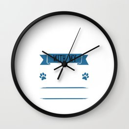 I Workout to Keep Up with My Border Collie T-Shirt Wall Clock