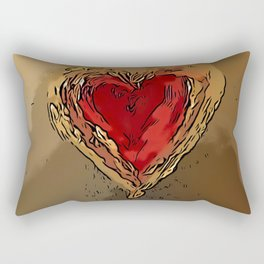 Crowned Heart Rectangular Pillow