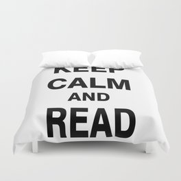 Keep Calm and Read Books Duvet Cover