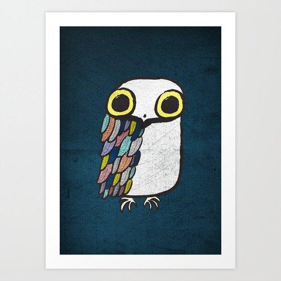 Wise Little Owl Art Print