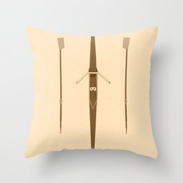 rowing single scull Throw Pillow