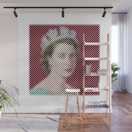 Dotted Queen Elizabeth Wall Mural