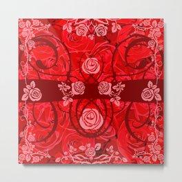roses need thorns vector art red Metal Print