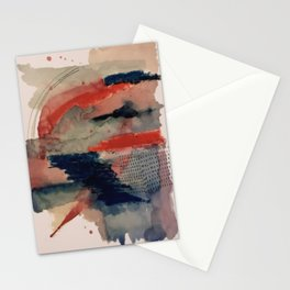 Independent: a red and blue abstract watercolor Stationery Cards