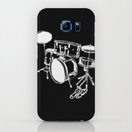 Drum Kit Rock Black White iPhone Case