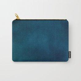 Blue-Gray Velvet Carry-All Pouch