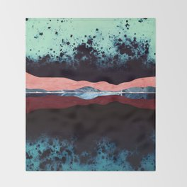 Night Sky Reflection Throw Blanket