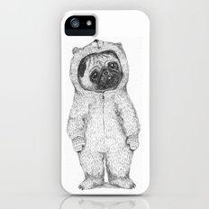 Winter pug iPhone (5, 5s) Slim Case
