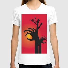 Halloween Raising Ghost Hands T-shirt