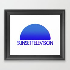 Sunset Television Logo Blue Framed Art Print