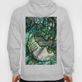 Shimmering Green Abalone Mother of Pearl Hoody