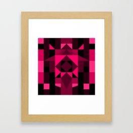 Hot Pink Zentangle Framed Art Print