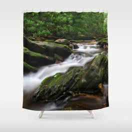 Rushing By Shower Curtain