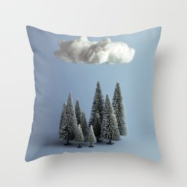 A cloud over the forest Throw Pillow