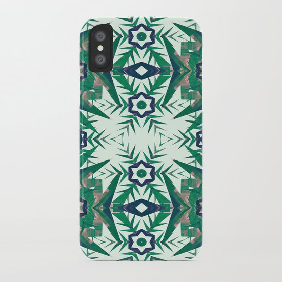 Tropical Snowflakes iPhone Case