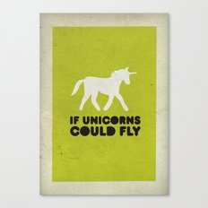 If unicorns could fly. Canvas Print