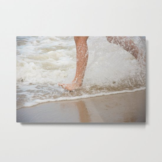 Running on the beach Metal Print