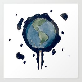 Earth Pop Art Print