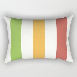 Tricolor Coordinates Rectangular Pillow