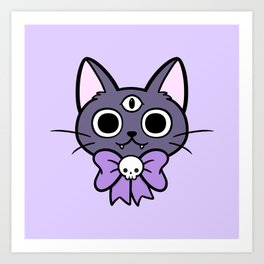 Three Eyed Kitty Art Print
