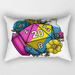 Pride Pansexual D20 Tabletop RPG Gaming Dice Rectangular Pillow