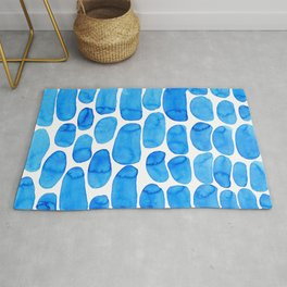 Watercolour abstract Rug