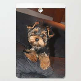 Cute Yorkshire Terrier Puppy Dog Cutting Board