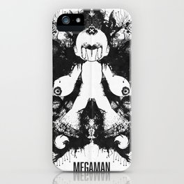 Megaman Geek Ink Blot Test iPhone Case