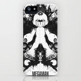 Megaman Geek Ink Blot Test iPhone Case