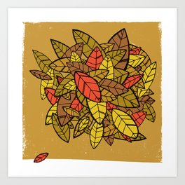 Autumn Memories (a pile of leaves) Art Print