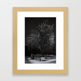A Lonely bench Framed Art Print