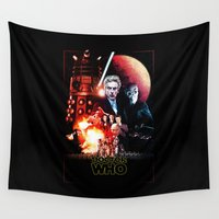 starwars Wall Tapestries featuring StarWars / DoctorWho by thedrunknown