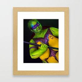 Mutant Turtle Framed Art Print