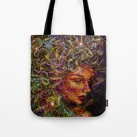 medusa Tote Bags featuring Medusa.... by shiva camille