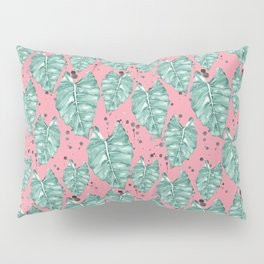 Watercolor tropical leaves pattern Pillow Sham