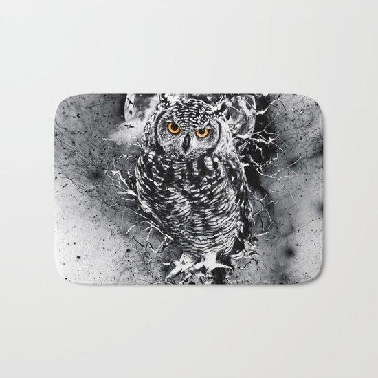 OWL BW Bath Mat