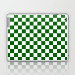 Small Checkered - White and Dark Green Laptop & iPad Skin