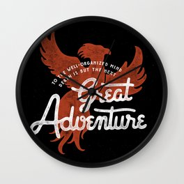 Great Adventure Wall Clock
