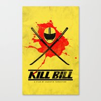 kill bill Canvas Prints featuring Kill Bill by WeEatDesign