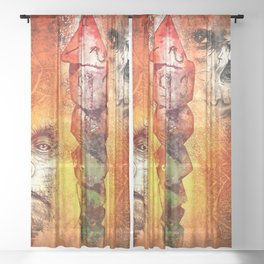Roll For Initiative Sheer Curtain