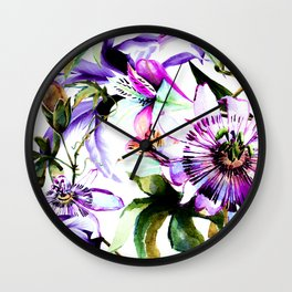 Violet botanical garden Wall Clock